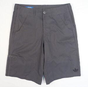 Image is loading Adidas-Originals-3S-Clean-Gray-Casual-Shorts-Men-