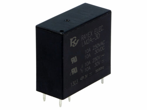 LM2A-3D  RAYEX  Relais  Relay  DPST-NO  3VDC  5A  17R  NEW  #BP 4 pcs