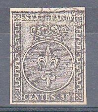 PARMA - 1852 - 10 cent (2) - stampa confusa in alto (BDF) - Diena - U