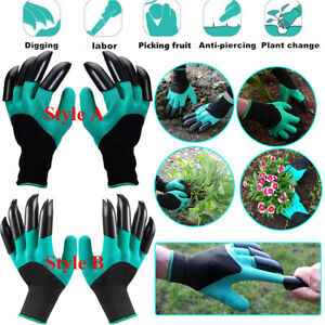 Garden Genie Gloves For Digging/&Planting With 4 ABS Plastic Claws