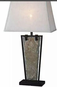 Kenroy Home Rustic Table Lamp 30 Inch Height 16 Inch Length 12 Inch Width wit...