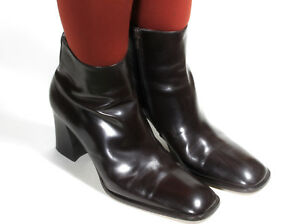 Stivali Donna Stiefel Vintage Stivaletti Tacco Alto Vernice da Cowboy 42,5