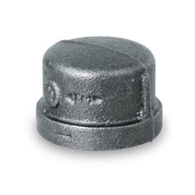 "BMCP0112 1-1//2/"" BLACK MALLEABLE IRON PIPE CAP FOR 150 LB W//FEMALE THREAD"