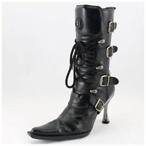 New Rock Stiefel Gr. 37 Malicia Stiefeletten schwarz mit Schnallen (#2875)