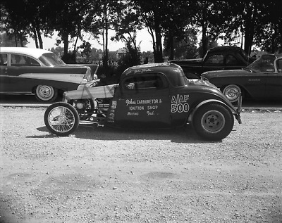 John Forstka 34 Ford Coupe Us Route 30 Dragstrip Drag Racing 8x10
