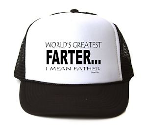 d6bc52bb85913 Trucker Hat Cap Foam Mesh World s Greatest Farter I Mean Father Dad ...