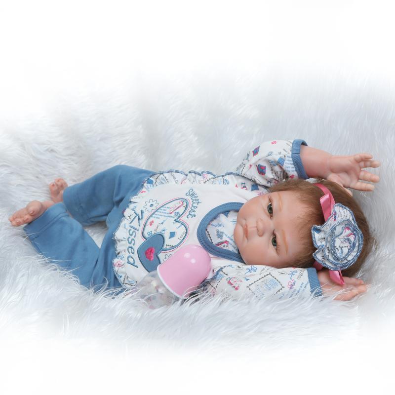 22  Bebé Reborn Preemie cuerpo completo silicona muñecos realistas recién nacido niña Juguete Regalos