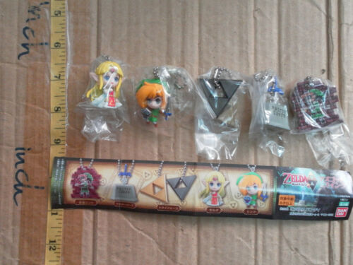 Bandai Triforce of the Gods 2 The Legend of Zelda Link strap figure gashapon set