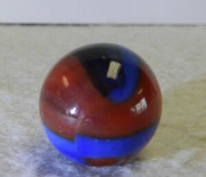 #12849m Original Vintage Marble King Spiderman Marble With Oxblood .61 In Mint