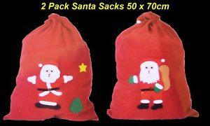 Christmas Gift Bags Layered Felt 50 x 70cm 6 x Santa Sack Santa Designs
