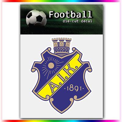 "AIK UEFA Die Cut Vinyl Sticker Car Bumper Window 4""x3.3"""