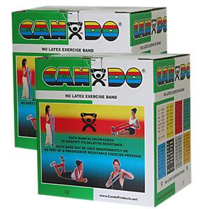 CanDo Latex Free Exercise Band-100 yard (2 x 50 yard rolls)-Green-medium-1371031