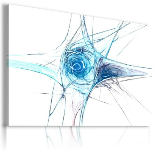ABSTRACT BLUE SWIRL CANVAS WALL ART PICTURE LARGE SIZES AB685  MATAGA .