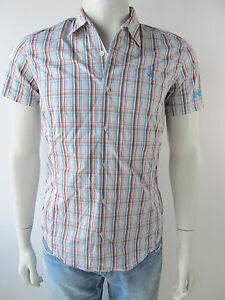 ANTWRP-Herren-Hemd-Camicia-Shirt-Blue-Azur-Kariert-Neu-M