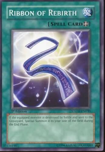3x Yugioh SDZW-EN030 Ribbon of Rebirth Common Card
