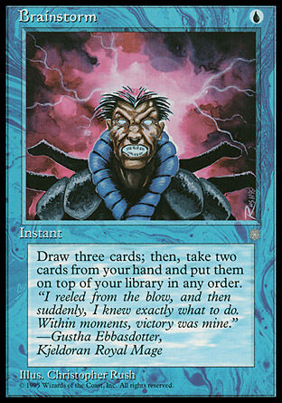 1x Brainstorm Ice Age MtG Magic Blue Common 1 x1 Cards Vintage Legacy Delver