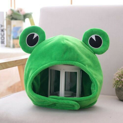 Funny Cartoon Cute Plush Frog Hat Cosplay Costume Photo Props Dress Up Girls Hat