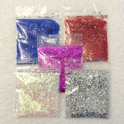 New 1mm HEXAGON GLITTER Nail Art Decoration Rainbow Holographic Crafts