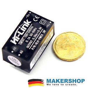 Mini-Netzteil-3-3V-3W-Internet-if-Things-IOT-Einbau-UP-Unterputz-240-Volt-AC