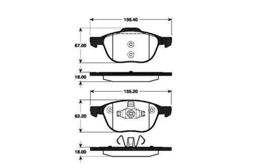 4x Bremsbeläge Bremsbelagsatz Bremsklötze Vorne für Ford C-Max 2 Focus 2 Mazda 3