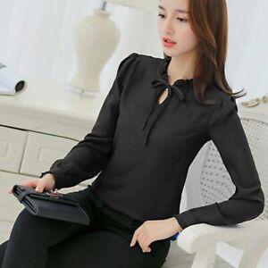 Loose-Chiffon-Blouse-Fashion-Women-Top-Shirt-Ladies-Long-Sleeve-Summer-T-Shirt