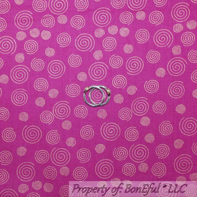 BonEful Fabric FQ Cotton Quilt Purple White Pink Flower Damask Orchid Fuchsia Lg