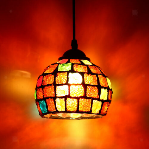 Bar Cafe Restaurant Pendant Light Cover Mosaic Style Hanging Ceiling Lamp Shade