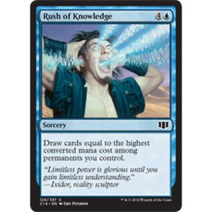 * Rush of Knowledge MTG COMMANDER 2014 Edition