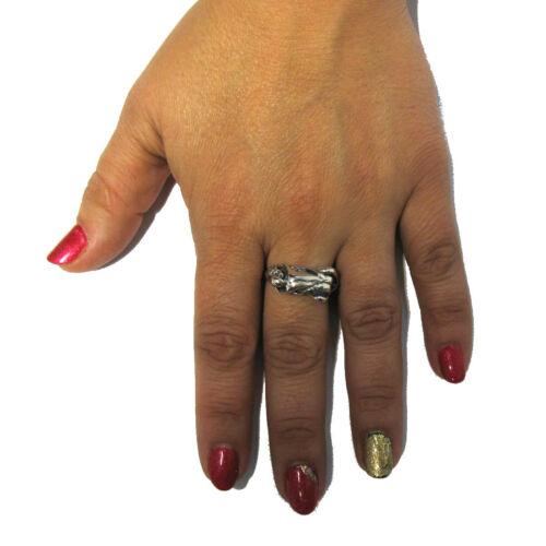 Anillo de plata esterlina sólida 925 Par hace Love Tamaño H-V r001260 Emperatriz