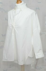 French-Connection-Winter-White-Oversized-Shirt-Size-XS-Pull-On-BNWT-Cotton
