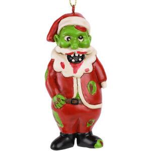 Tree-Buddees-Zombie-Santa-Claus-Christmas-Glass-Ornament-Funny-Xmas-Decoration