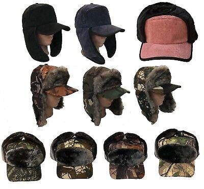 Winter Trooper TRAPPER Ski Hat Men/'s Faux Fur Hat cap-Soft Warm Aviator 3