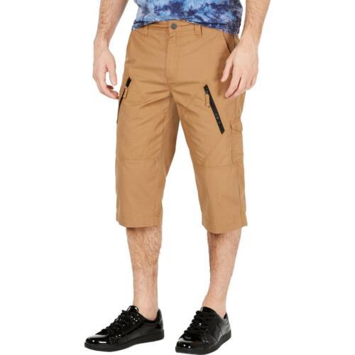 INC Mens Michael  Cotton Long Messenger Bermuda Shorts BHFO 9004