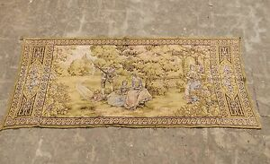 Vintage French Beautiful Romantic Scene Tapestry 70x165cm A967