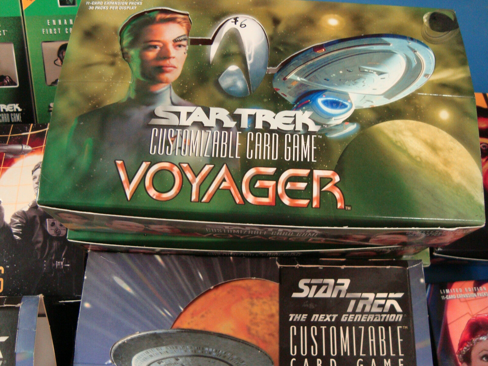 14 Star Trek empty empty empty booster box lot Mirror Mirror, Reflections, Voyager etc. ec2180
