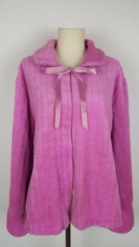 Vintage Pink Fuzzy Bedjacket Cape Robe Glam Peigno