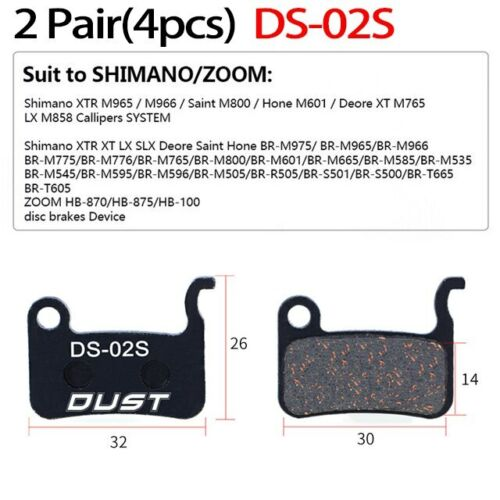 4pcs 2 Pair MTB Bicycle Hydraulic Disc Ceramics Brake Pads For b01s SHIMANO