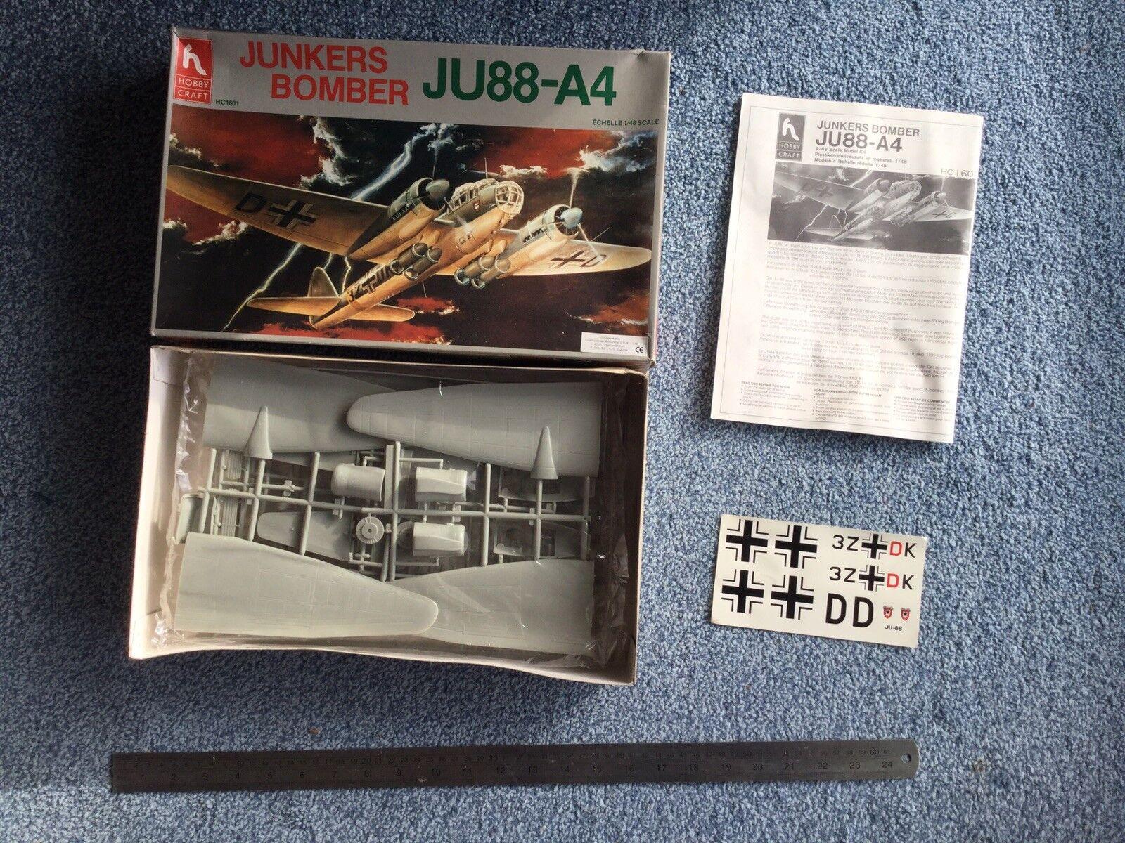 Hobby Craft 1 48 Junkers Bomber JU88-A4 model kit