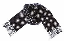 Dolce & Gabbana Black and White Polka Dot cashmere printed Scarf pattern D&G Nwt