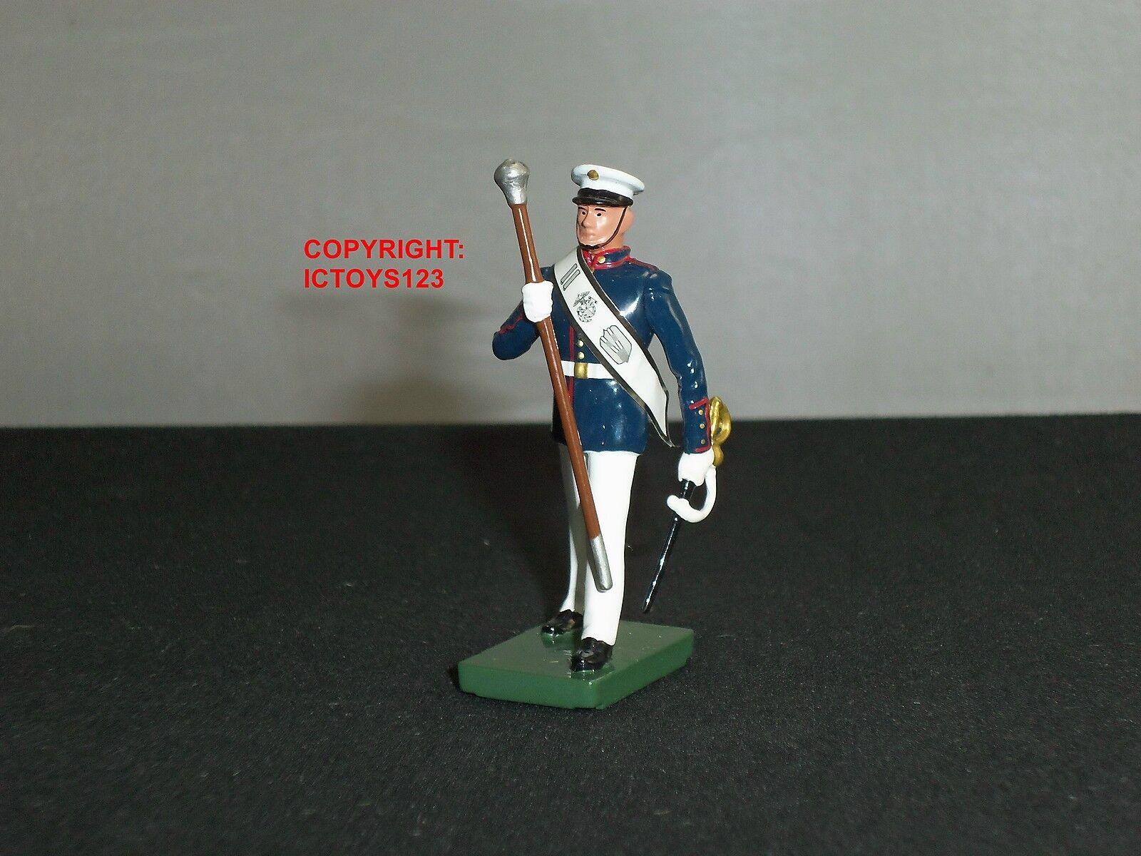 BRITAINS 43031 AMERICAN US MARINE BAND DRUM MAJOR METAL TOY SOLDIER FIGURE
