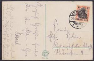 DR-Mi-Nr-89-EF-auf-AK-Riesengebirge-mit-KGS-Krummhuebel-1920-Germania