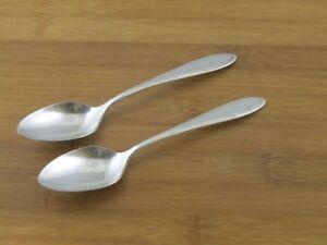2-Two-Oneida-Reverie-Teaspoons-Nobility-Plate-6-1-8-034-Silverplate-Flatware-1937