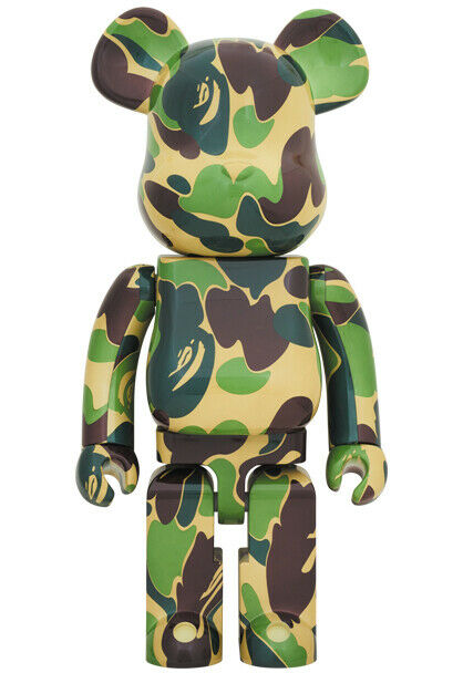 2019 BE@RBRICK 1000% verde ABC Bape BATHING APE Raro Bearbrick