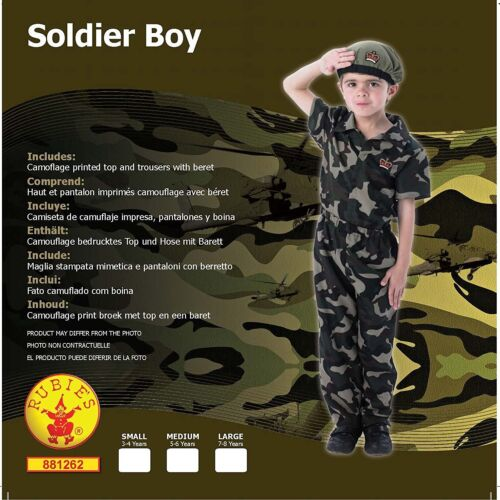 Rubie/'s Official Soldier Costume Boys Small