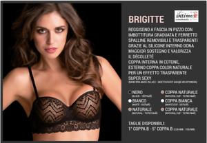 BRIGITTE PUSH-UP IN PIZZO DECOLTE/' FASCIA IMBOTTITA REGGISENO LOVE AND BRA ART