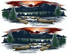 2 RV TRAILER TRUCK MOUNTAIN SCENE DECALS GRAPHICS -930-3