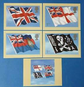 Set of 5 PHQ Stamp Postcards Set No.PSM07 Royal Navy Flags & Ensigns 2001 CR3