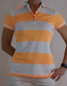 RALPH-LAUREN-Women-Orange-amp-White-Wide-Stripe-LRL-Polo-Shirt-NWT-PXS-69-5