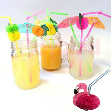 COCKTAIL UMBRELLA FRUIT DRINKING STRAW HAWAIIAN BIRTHDAY PARTY HEN STAG BAR PUB