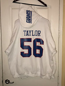 hot sales 7983a c5737 Details about NY Giants Lawrence Taylor Throwback Jersey Style Hoodie Hoody  Hooded Sweatshirt